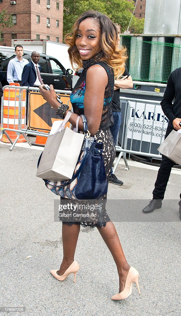 Singer Estelle Swaray attends 2014 Mercedes-Benz Fashion Week during day 1 on September 5, 2013 in New York City.