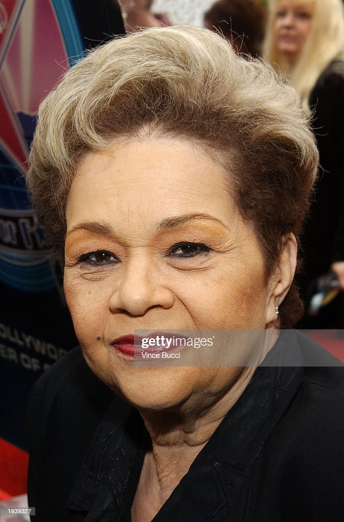 Singer Etta James attends a ceremony honoring her with a star on the Hollywood Walk of Fame April 18, 2003 in Hollywood, California.