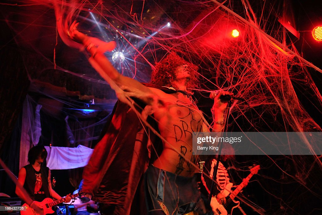 Singer Eugene Rice of the band Banshee Bones performs in concert on October 30, 2013 at Club Moscow in Hollywood, California.