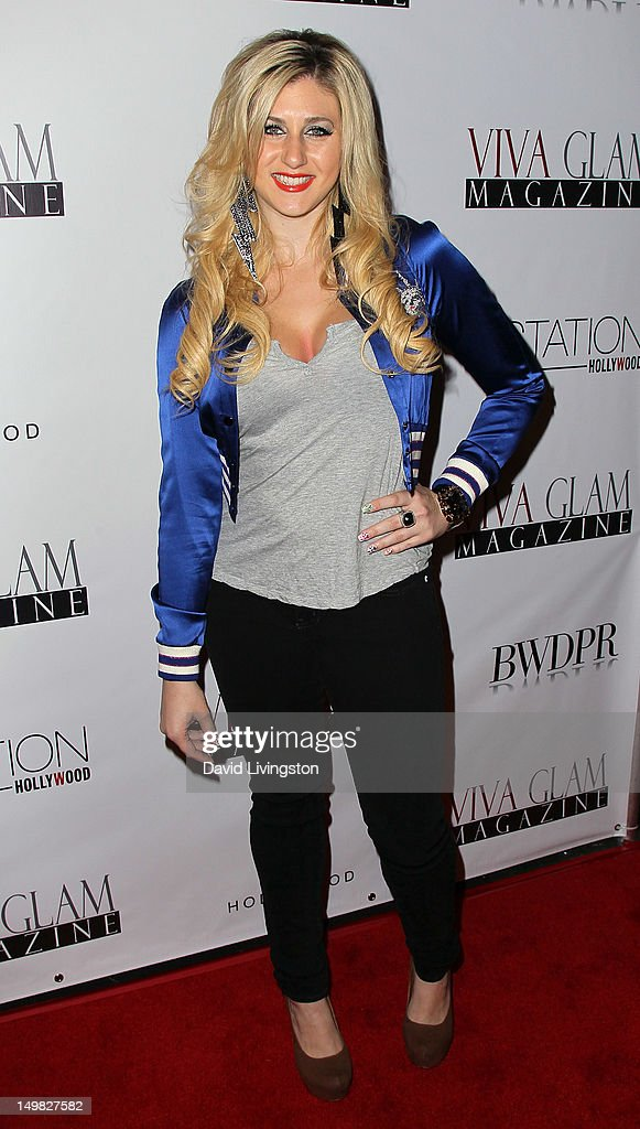 Singer Eva Universe attends the Viva Glam Magazine September Issue launch party at Station Hollywood on July 31, 2012 in Hollywood, California.