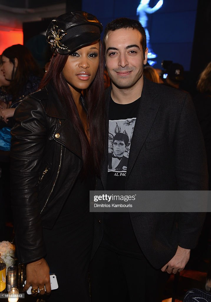 Singer Eve and Mohammed Al Turki attend DSquared2 and Interview Magazine's premiere screening of 'Behind The Mirror':Spring Summer 2013 Campaign at Copacabana on February 10, 2013 in New York City.