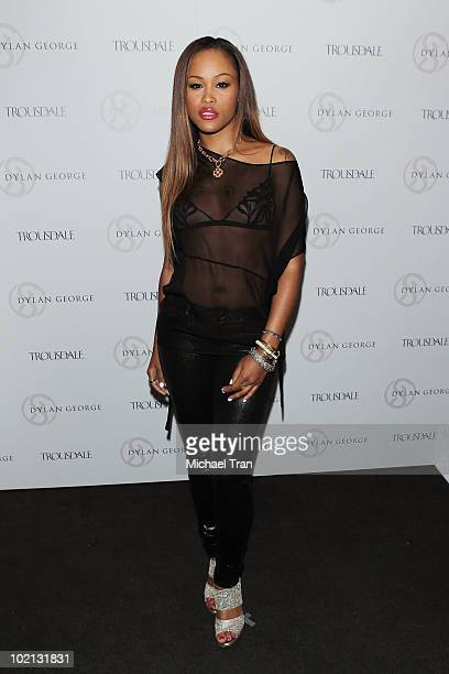 Singer Eve arrives at the designer Dylan George unveils new fall campaign party held at Trousdale on June 15 2010 in West Hollywood California
