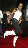 Singer Eve arrives at the premiere of 'Bulletproof Monk' at the Chinese Theater on April 9 2003 in Los Angeles California