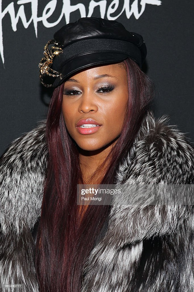 Singer Eve arrives to DSquared2 and Interview Magazine's premiere screening of 'Behind The Mirror': Spring Summer 2013 Campaign at Copacabana on February 10, 2013 in New York City.