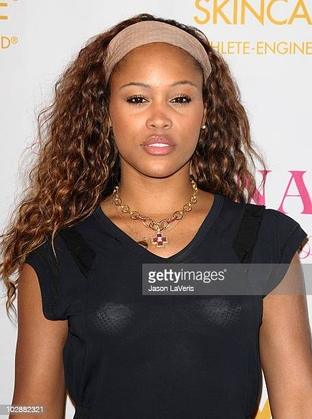 Singer Eve attends a preESPYs party on July 12 2010 in Los Angeles California
