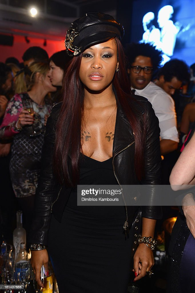 Singer Eve attends DSquared2 and Interview Magazines premiere screening of 'Behind The Mirror':Spring Summer 2013 Campaign at Copacabana on February 10, 2013 in New York City.