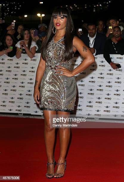 Singer Eve attends the MOBO Awards at SSE Arena on October 22 2014 in London England