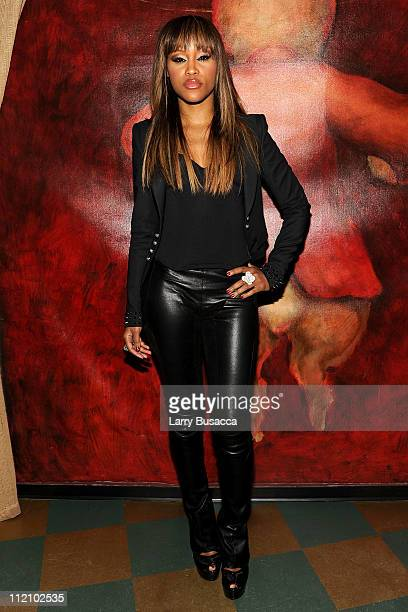 Singer Eve attends the Scream 4 New York screening after party hosted by Curtis '50 Cent' Jackson Harvey Weinstein at the Mr H at the Mondrian Soho...