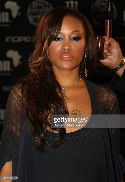Singer Eve Jihan Jeffers attends the launch party for The Gumball 300 Rally on April 30 2010 in London England