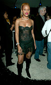 Singer Eve poses backstage at VH1's Big In 2003 Awards on November 20 2003 at Universal City in Los Angeles California VH1's Big in 2003 Awards will...