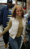 Singer Eve walks on Main Street during the 2004 Sundance Film Festival January 19 2004 in Park City Utah