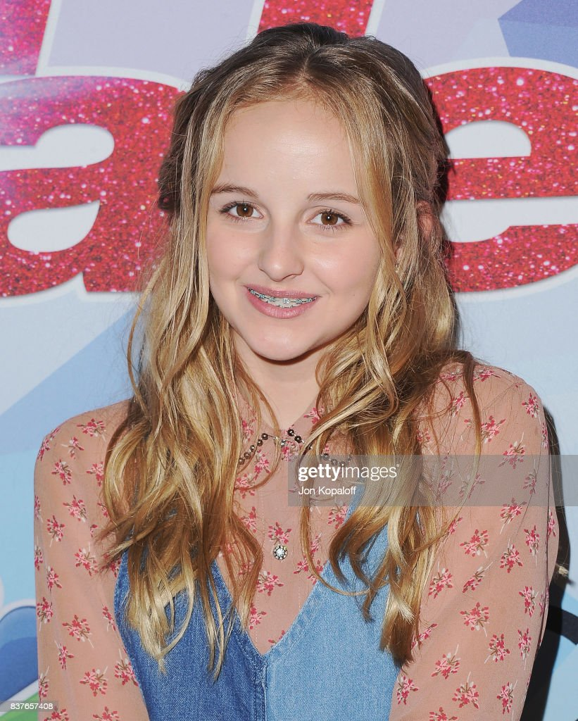 Singer Evie Clair arrives at NBC's 'America's Got Talent' Season 12 Live Show at Dolby Theatre on August 22, 2017 in Hollywood, California.