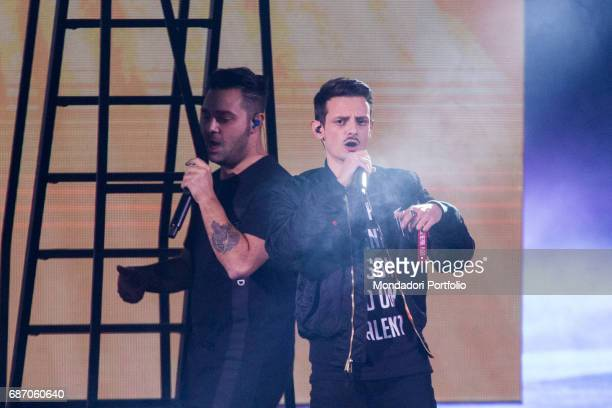 Singer Fabio Rovazzi during an episode of X Factor Milan Italy 1st December 2016