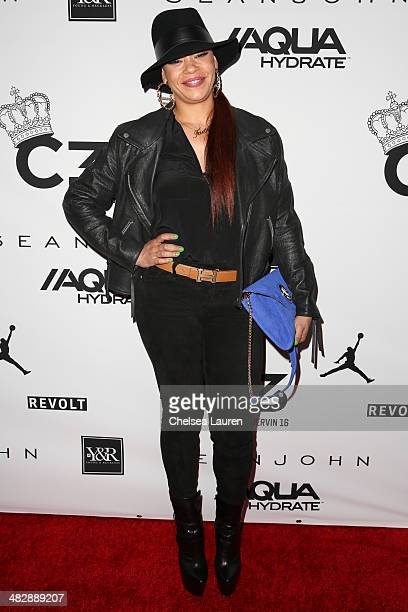 Singer Faith Evans arrives at Christian Casey Combs' 16th birthday party at 1OAK on April 4 2014 in West Hollywood California