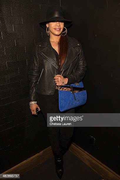 Singer Faith Evans attends Christian Casey Combs' 16th birthday party at 1OAK on April 4 2014 in West Hollywood California