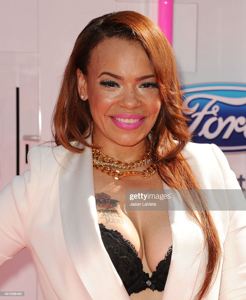 Singer Faith Evans attends the 2014 BET Awards at Nokia Plaza L.A. LIVE on June 29, 2014 in Los Angeles, California.