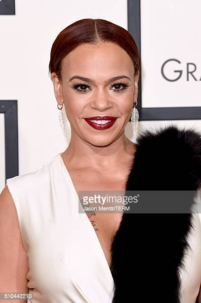 Singer Faith Evans attends The 58th GRAMMY Awards at Staples Center on February 15 2016 in Los Angeles California