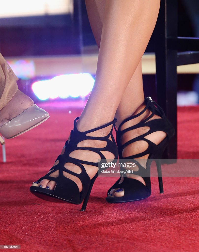 Singer Faith Evans (shoe detail) attends the Soul Train Awards 2013 at the Orleans Arena on November 8, 2013 in Las Vegas, Nevada.