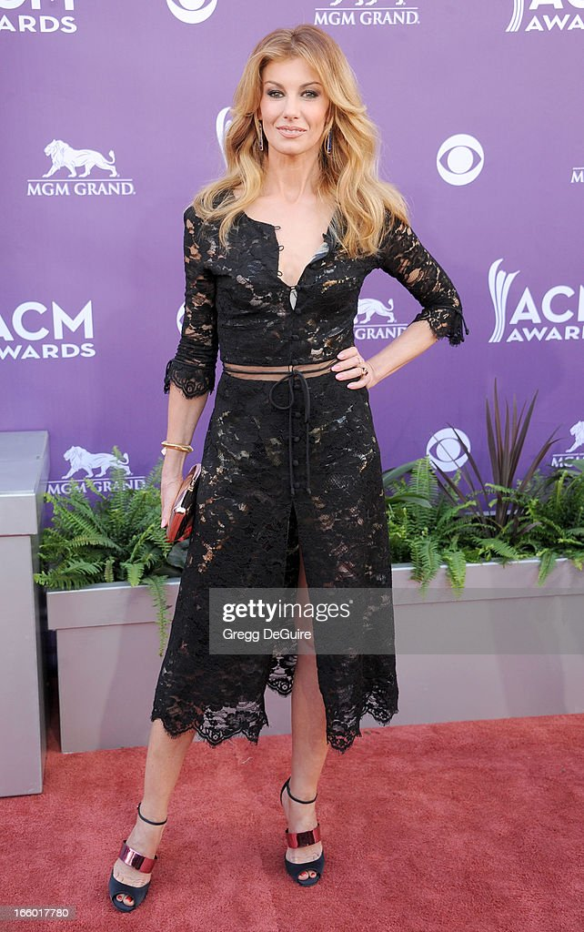 Singer Faith Hill arrives at the 48th Annual Academy Of Country Music Awards at MGM Grand Garden Arena on April 7, 2013 in Las Vegas, Nevada.