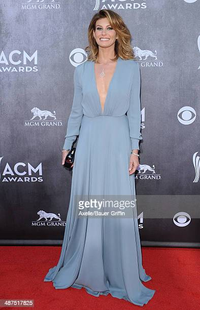 Singer Faith Hill arrives at the 49th Annual Academy of Country Music Awards at the MGM Grand Hotel and Casino on April 6 2014 in Las Vegas Nevada