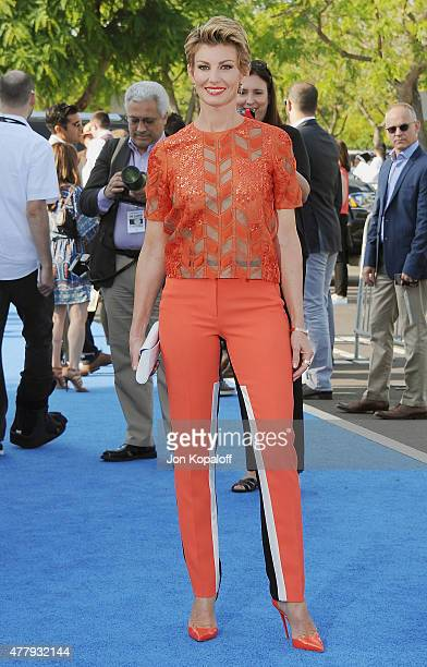 Singer Faith Hill arrives at the Los Angeles Premiere of Disney's 'Tomorrowland' at AMC Downtown Disney on May 9 2015 in Lake Buena Vista Florida
