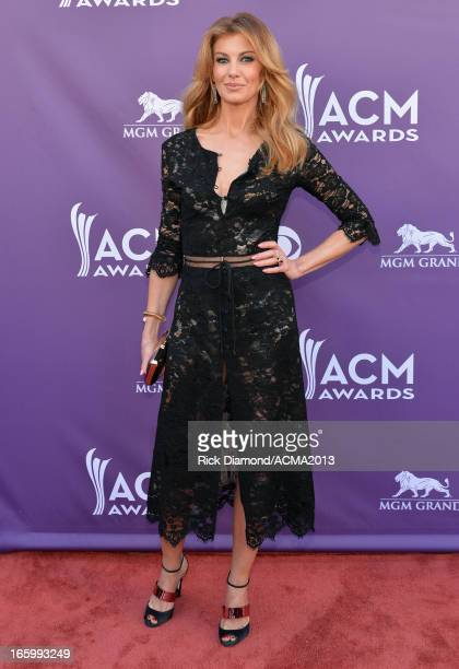 Singer Faith Hill attends the 48th Annual Academy of Country Music Awards at the MGM Grand Garden Arena on April 7 2013 in Las Vegas Nevada