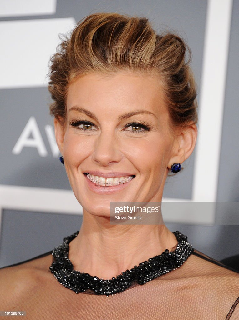 Singer Faith Hill attends the 55th Annual GRAMMY Awards at STAPLES Center on February 10, 2013 in Los Angeles, California.