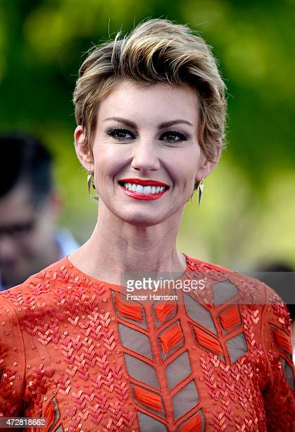 Singer Faith Hill attends the Premiere Of Disney's 'Tomorrowland' at AMC Downtown Disney 12 Theater on May 9 2015 in Anaheim California