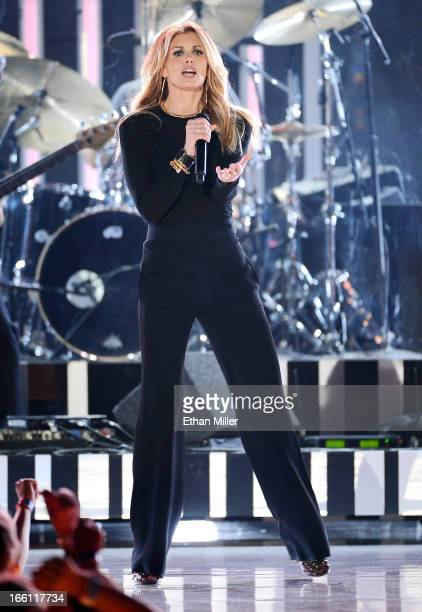 Singer Faith Hill performs onstage during Tim McGraw's Superstar Summer Night presented by the Academy of Country Music at the MGM Grand Garden Arena...
