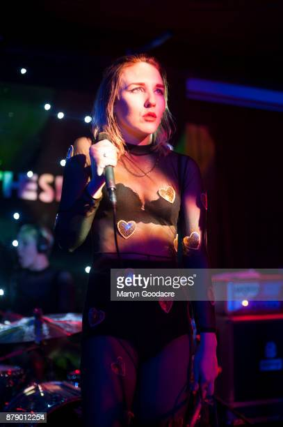Singer Faith Vern of English rock band Pins performs on stage at Volksbuhne in Berlin Germany on November 19 2017