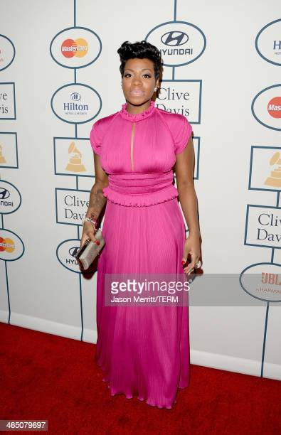 Singer Fantasia Barrino attends the 56th annual GRAMMY Awards PreGRAMMY Gala and Salute to Industry Icons honoring Lucian Grainge at The Beverly...
