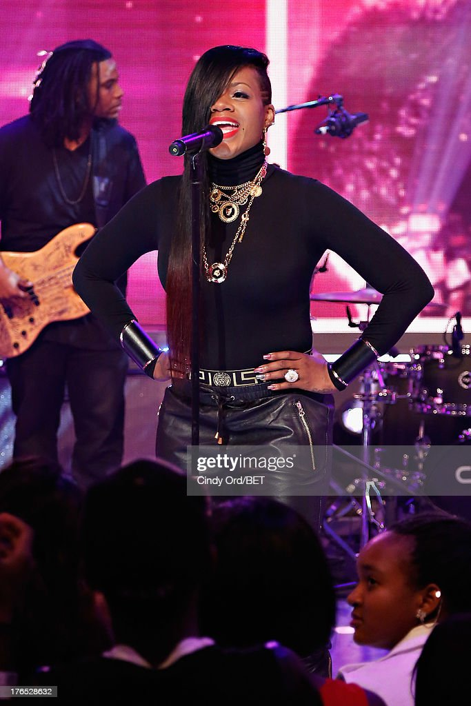 Singer Fantasia performs during BET's '106 and Park' at BET Studios on August 14, 2013 in New York City.