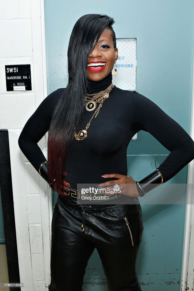 Singer Fantasia poses backstage at BET's '106 and Park' at BET Studios on August 14, 2013 in New York City.