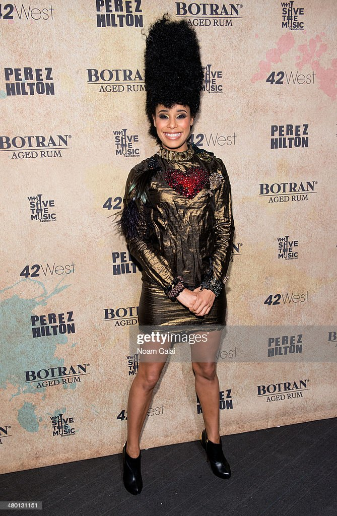 Singer Fantine attends Perez Hilton's 36th Birthday 'Madonnathon' at 42West on March 22, 2014 in New York City.
