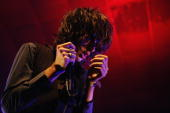 Singer Faris Badwan of the Horrors performs on stage during the John Peel Night of the BBC's Electric Proms season at the Electric Ballroom in Camden...