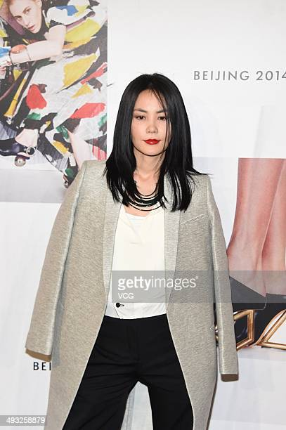 Singer Faye Wong attends Celine fashion show at 751DPark on May 22 2014 in Beijing China