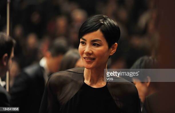 Singer Faye Wong attends Smile Angel Foundation 5th Anniversary Celebrations at Narional Centre for the Performing Arts on December 1 2011 in Beijing...
