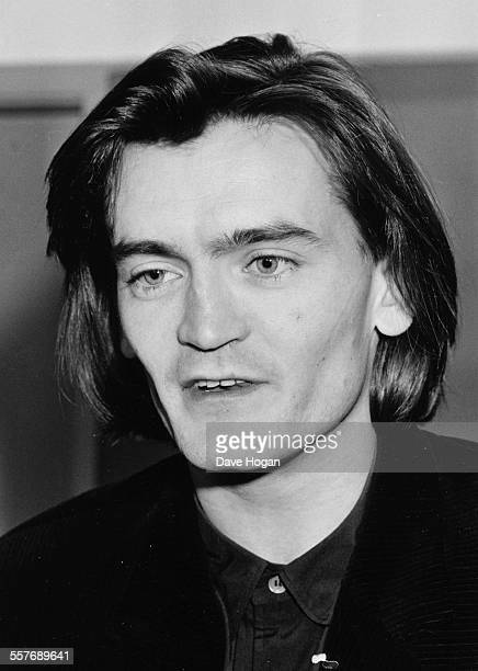 Singer Feargal Sharkey of the band 'The Undertones' at a meeting with Richard Branson in London November 15th 1985