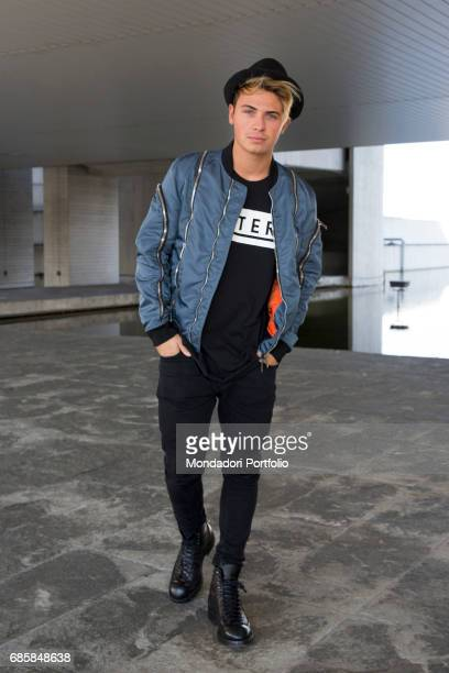 Singer Fede of the the musical duo Benji Fede visiting the newsroom of TV Sorrisi e Canzoni Segrate Italy October 2016