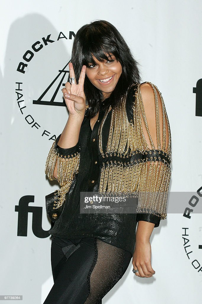 Singer Fefe Dobson attends the 25th Annual Rock and Roll Hall of Fame Induction Ceremony at Waldorf=Astoria on March 15, 2010 in New York, New York.