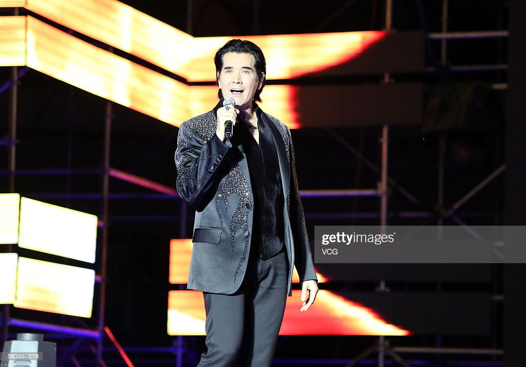 Singer Fei Xiang aka Kris Phillips performs onstage during the welcome party of 2016 Sichuan International Culture Tourism Festival on July 26 2016...