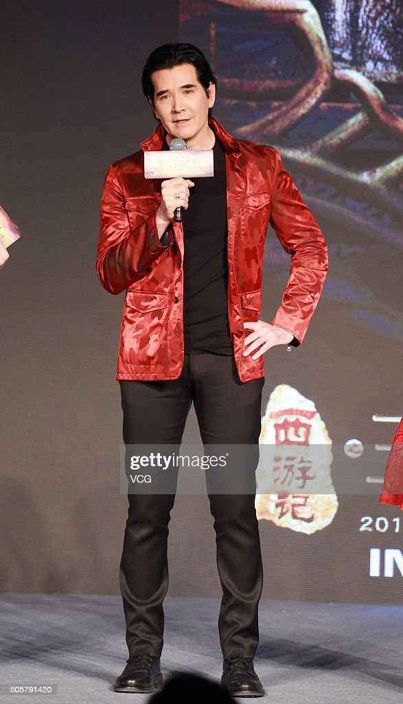 Singer Fei Xiang attends the press conference of director Cheang Pousoi's film 'The Monkey King 2' on January 20 2016 in Beijing China