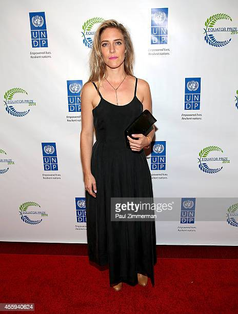 Singer Feist attends The United Nations 2014 Equator Prize Gala at Avery Fisher Hall Lincoln Center on September 22 2014 in New York City