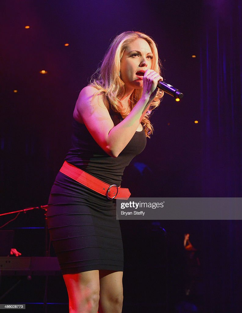 Singer Felice Garcia of 'Million Dollar Quartet' performs during 'Mondays Dark With Mark Shunock' benefiting the Miracle League of Las Vegas featuring music from movie soundtracks at the Body English nightclub inside the Hard Rock Hotel & Casino on April 21, 2014 in Las Vegas, Nevada.
