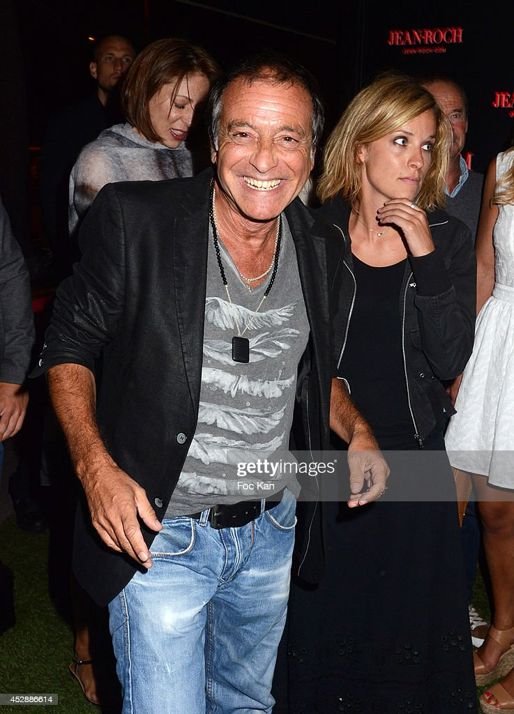 Singer Felix Gray and his wife attend the DJ Canitrot Party VIP Room Saint Tropez July 28, 2014 in Saint Tropez, France.