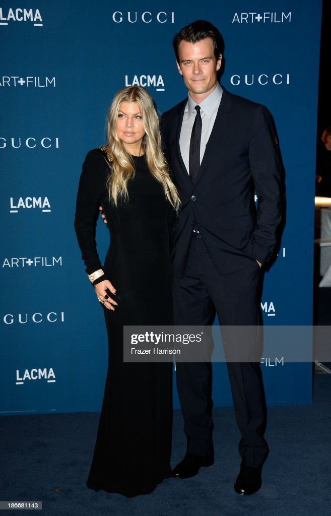 Singer Fergie and actor <a gi-track='captionPersonalityLinkClicked' href=/galleries/search?phrase=Josh+Duhamel&family=editorial&specificpeople=208740 ng-click='$event.stopPropagation()'>Josh Duhamel</a> arrives at the LACMA 2013 Art + Film Gala on November 2, 2013 in Los Angeles, California.