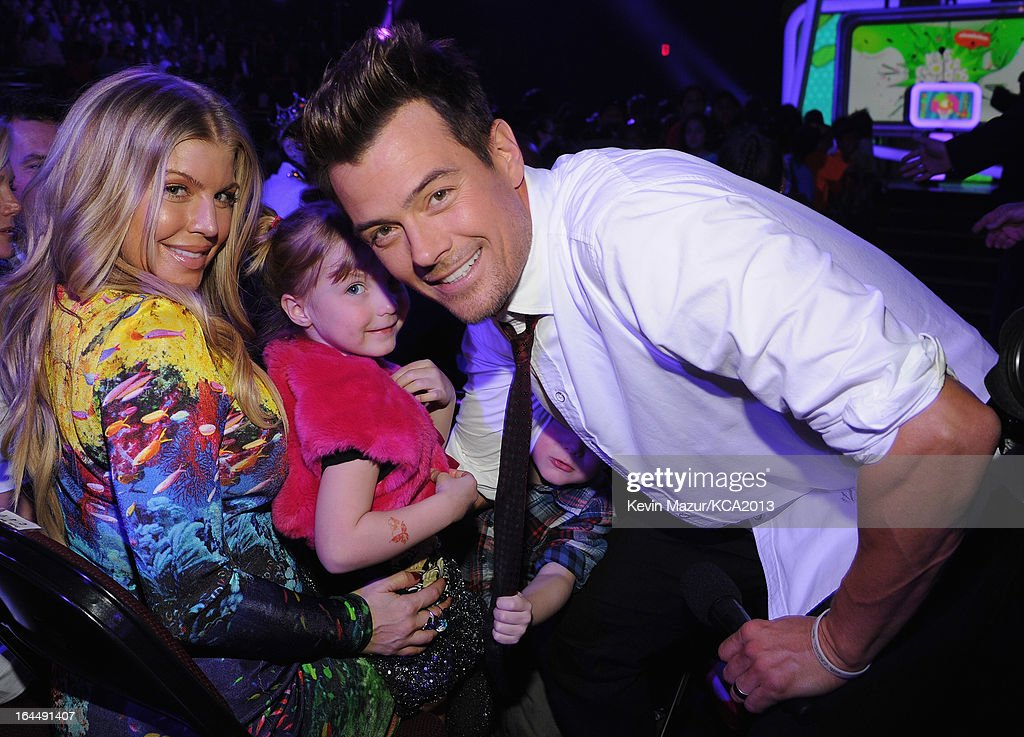 Singer Fergie (L) and host Josh Duhamel attend Nickelodeon's 26th Annual Kids' Choice Awards at USC Galen Center on March 23, 2013 in Los Angeles, California.