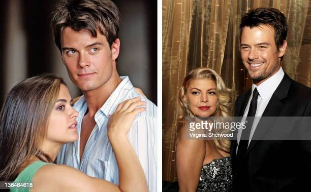 In this composite image a comparison has been made of actor Josh Duhamel Many of today's leading Hollywood stars began their careers in daytime...