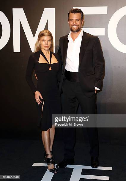 Singer Fergie and Josh Duhamel attend Tom Ford Autumn/Winter 2015 Womenswear Collection Presentation at Milk Studios on February 20 2015 in Hollywood...