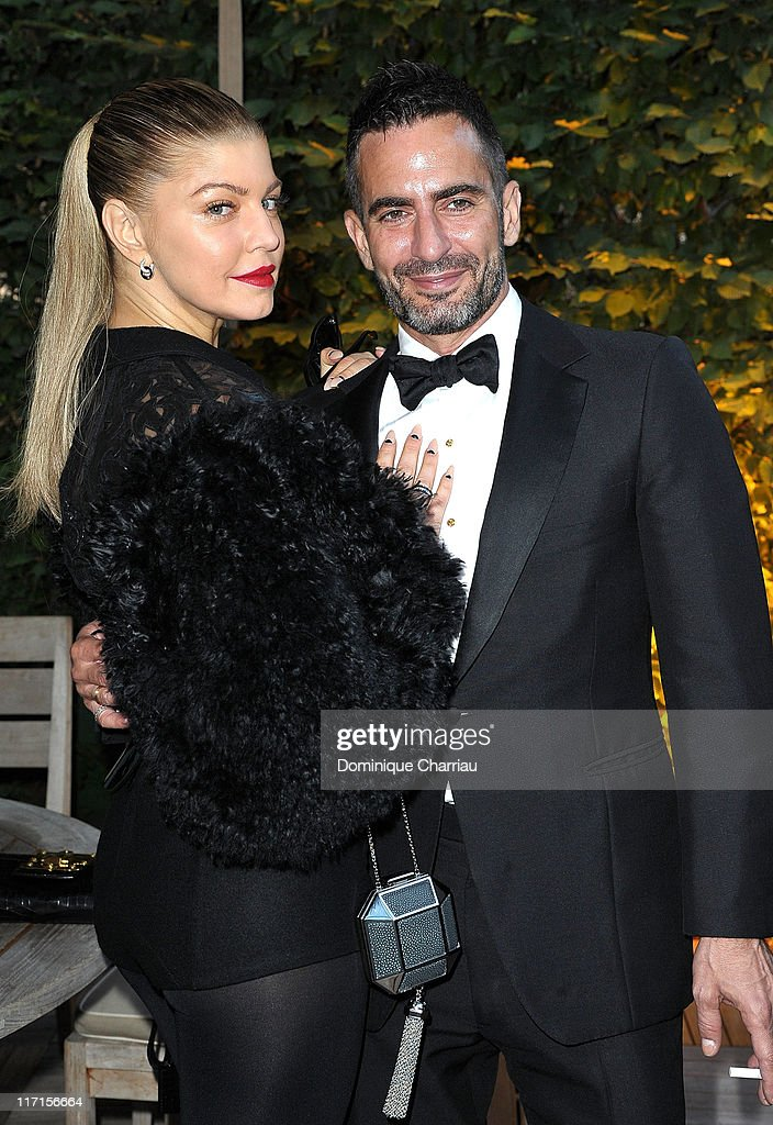 Singer Fergie (L) and Marc Jacobs attend the 25th amfAR Inspiration Gala at Pavillon Gabriel on June 23, 2011 in Paris, France.